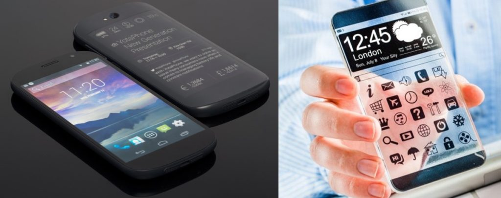 Transparent & Dual side display Phone