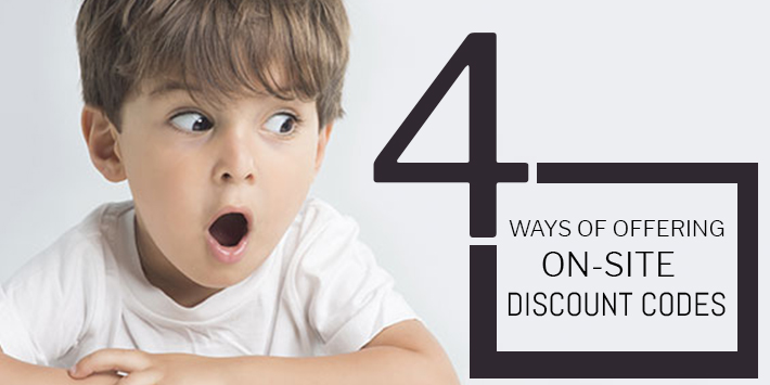 4 ways of offering onsite discount codes
